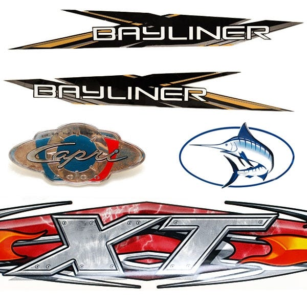 Boat Decals Pontoon Decals Pinstriping Graphics Great Lakes - Decals for pontoon boats