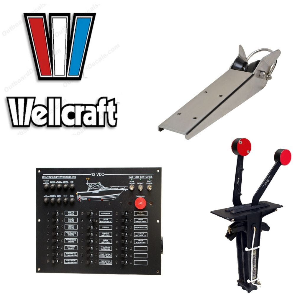 wellcraft boat parts & accessories, wellcraft replacement parts Starcraft Boat Wiring Diagram Wellcraft Excalibur 23 Wiring Diagrams wellcraft wiring diagrams