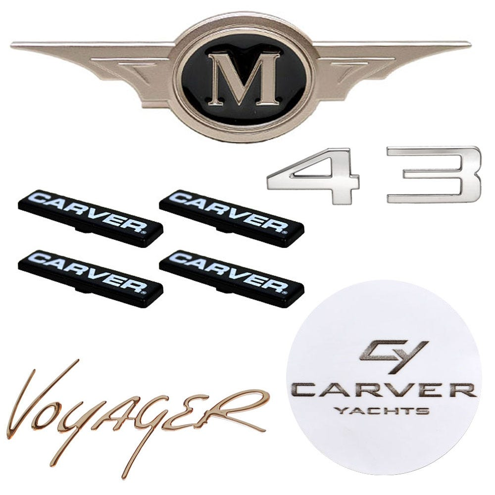 Carver Boat Decals Carver Boat Stickers Carver Boat Graphics - Decals for boat seats