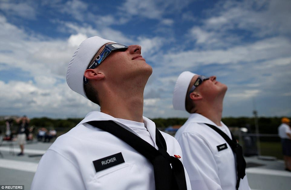 Two sailors aboard the museum ship USS Yorktown in Mt. Pleasant, SC. Photo: Reuters