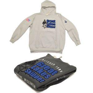 Sweatshirts, Pelican Gray (GLS #1069858, 1069859, 1069860) & Vintage Gray (GLS #1069862, 1069863)