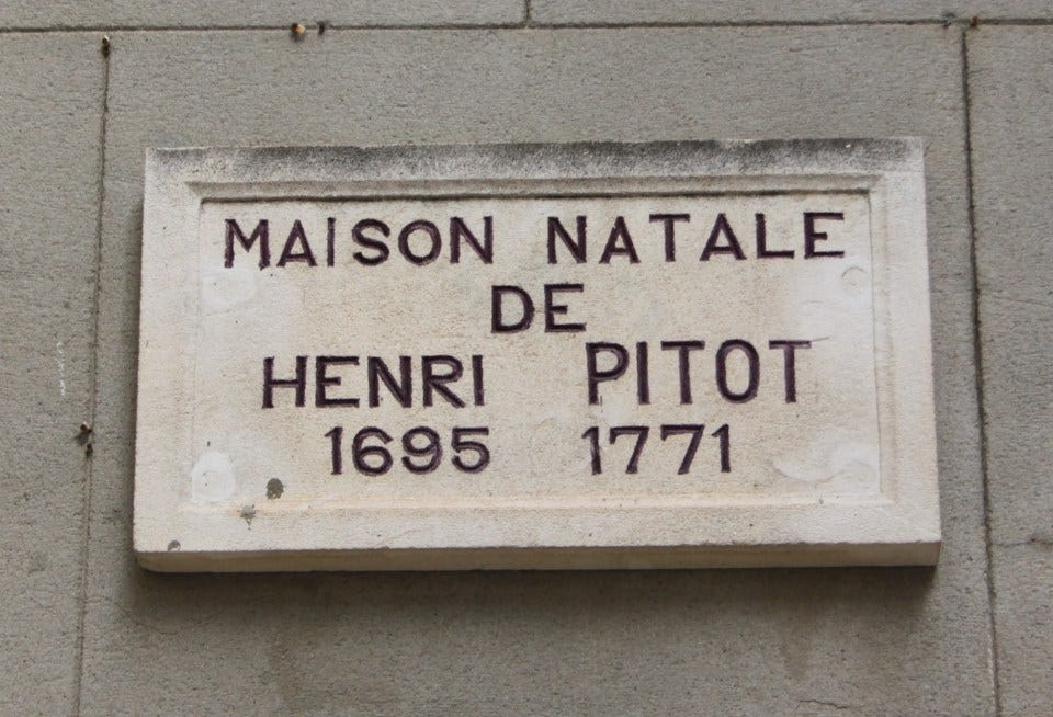 Merci, Monsieur Pitot!