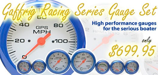 Gaffrig Racing Series Gauge Set - High performance gauges for the serious boater.