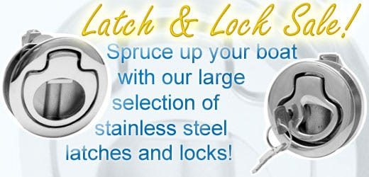 Spruce up your boat with our large selection of stainless steel latches and locks.