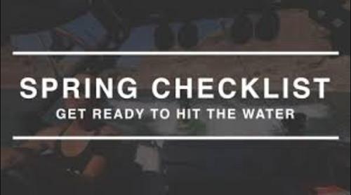 Supra Boat Spring Start Up Checklist