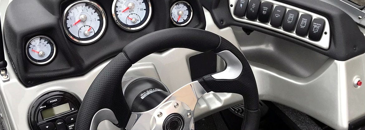 Shop boat gauges and steering wheels at unbeatable prices