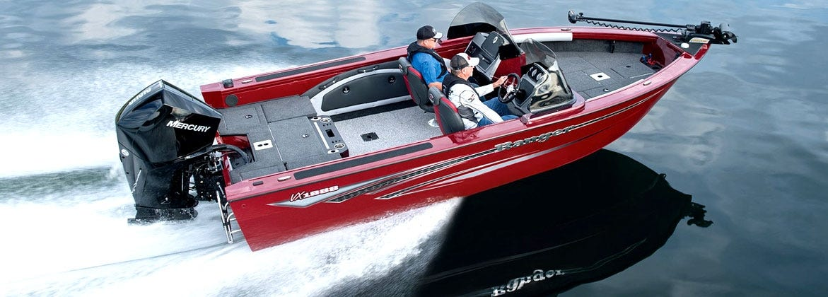 Ranger Aluminum Fishing Boat with Merucry Outboard Engine