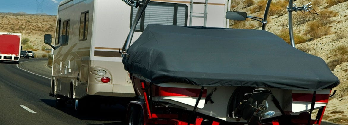 Boat Cover on Boat Trailer