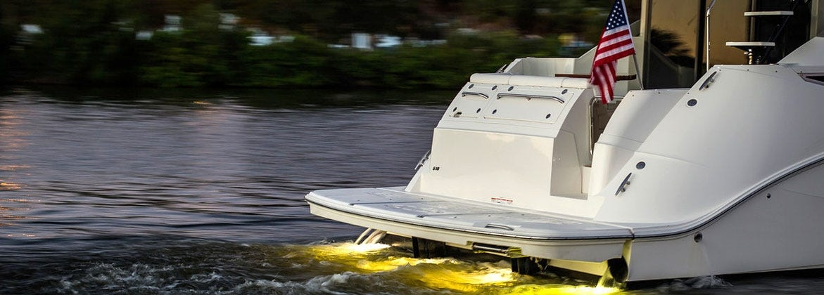 Boat Swim Platform With underwater lighting