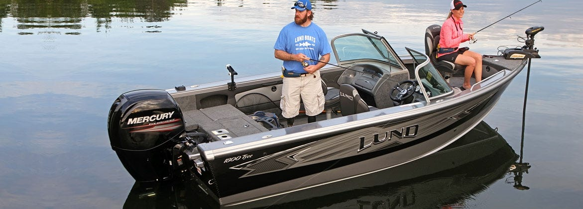 trolling motor fishing boat