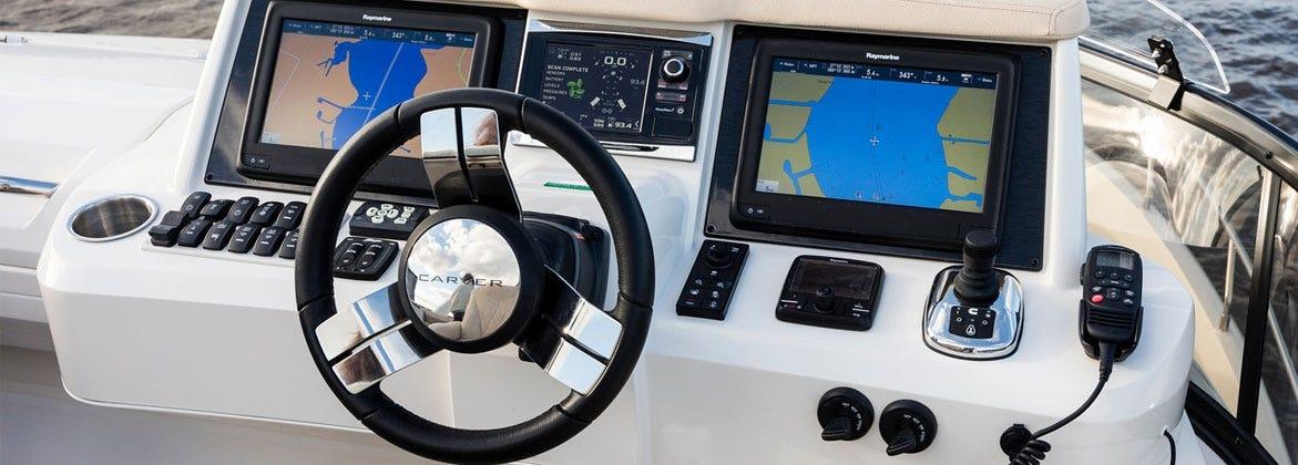 Boat Dash Steering Wheel Gauge Kit